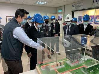 華城首座自營充電站 鄭文燦率金牌企業參訪觀音二廠