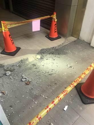6.7強震 北市南京東路大樓磁磚脫落砸騎樓