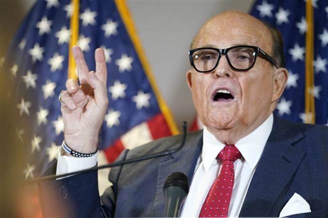 川普私人律師朱利安尼(Rudy Giuliani)。(美聯社)