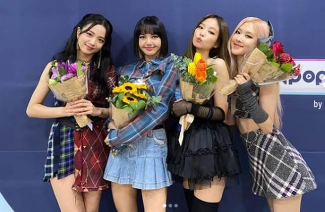 韩团BLACKPINK的4位成员都入百大美女榜。(图/翻摄自IG)