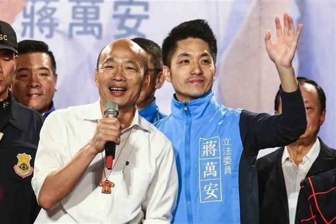 高雄市前市长韩国瑜(左)、国民党立委蒋万安(右)。(本报系资料照)