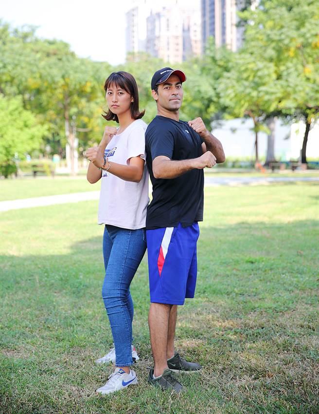 伊朗國手歐米和台灣選手吳蘹澐,是跆拳道界郎才女貌的代表。(攝影/Carter)
