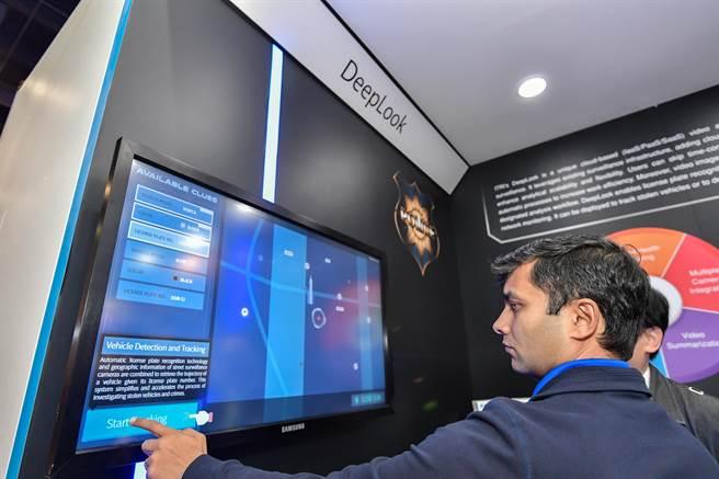 工研院展示DeepLook技術,能針對車牌、人和物件進行追蹤,精準度超過99%。(工研院提供/羅浚濱新竹傳真)