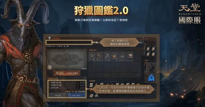 《天堂R》專為打寶獵人設計的「狩獵圖鑑2.0」。(圖/遊戲橘子提供)