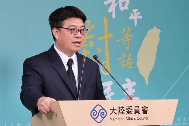 陸委會副主委邱垂正今表示,陸方在兩岸企業家峰會上提一中原則、九二共識是藉機進行政治宣傳及統戰。(林至柔攝)
