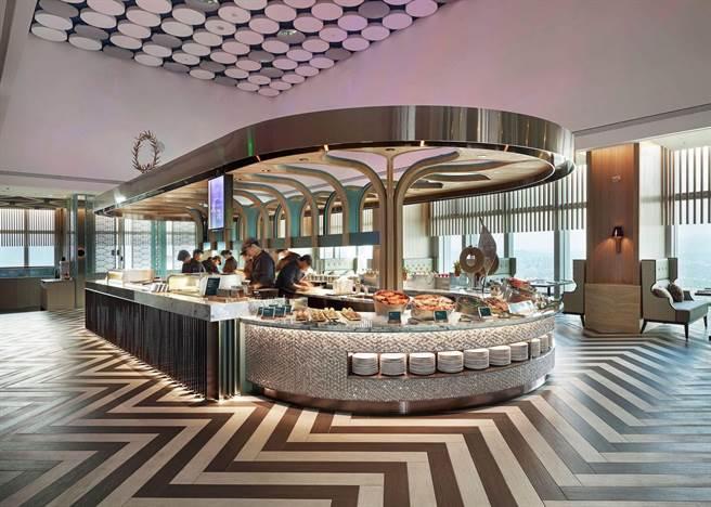 「饗饗」位於台北巿信義區的微風信義46樓,坐擁高空景觀。(饗賓餐旅提供)