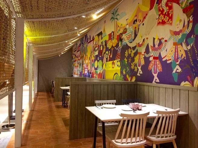 平時以單點模式供應餐點的泰式餐廳「饗泰多 松高店」,在跨年時段推出吃到飽。(饗賓餐旅提供)