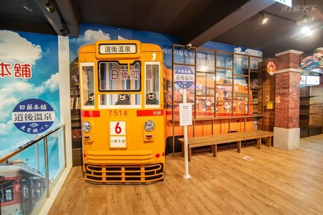 夏目漱石小說《少爺》復刻列車以及熊本熊都在這裡看得到。(圖/行遍天下提供)