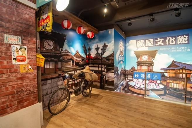 不只是藥妝店,日藥本舖羅東門市3樓以溫泉湯屋文化館為主題要讓消費者除了買日本藥妝,更能像是踏入日本。(圖/行遍天下提供)