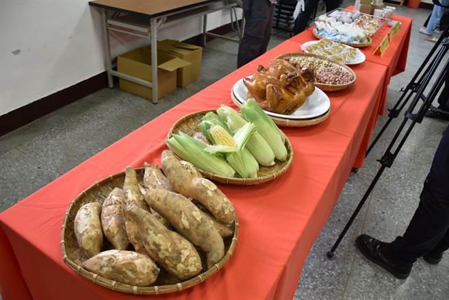 後龍鎮甘藷花生節的焢窯活動將在本月19日在高鐵六路旁稻田舉行,屆時現場準備有甘藷、土雞等美食供民眾享用。(謝明俊攝)