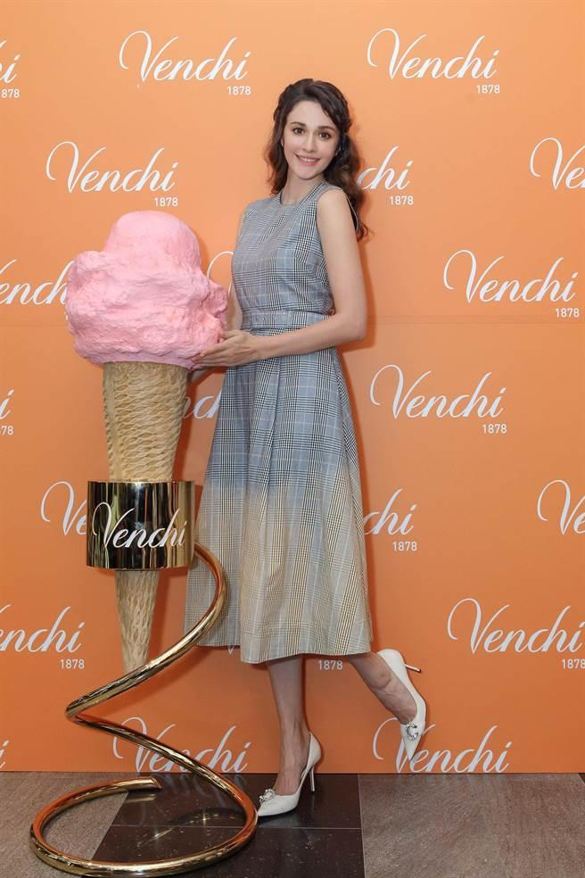 瑞莎出席義大利巧克力品牌記者會。(Venchi提供)