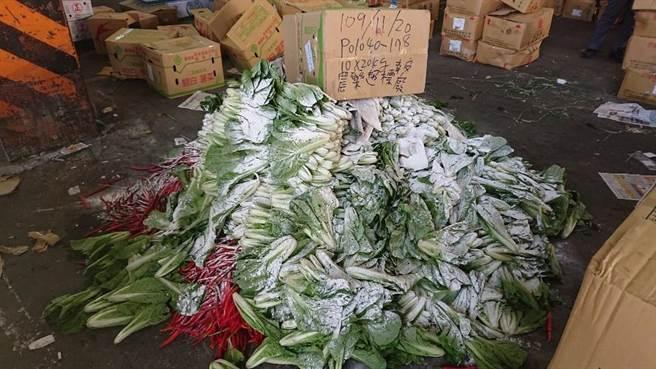 北市11月抽驗蔬果農藥殘留 不合格率竟再次上升。(市場處提供/吳康瑋台北傳真)