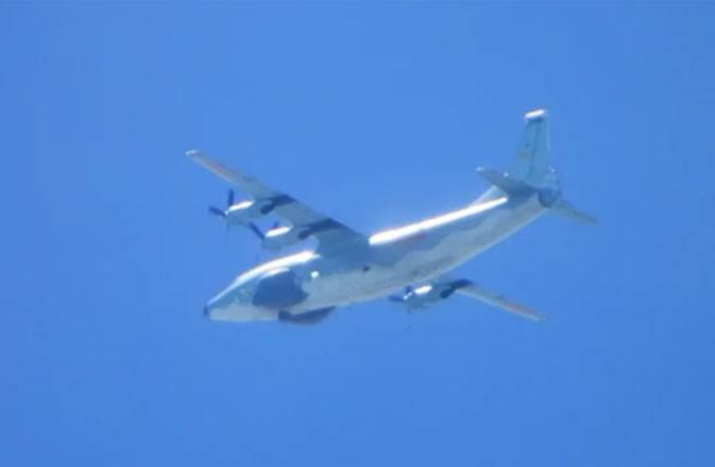 中共運8遠干機進入我防空識別區。圖/國防部