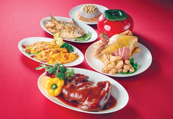 台北福華飯店除了六人份年菜套餐,今年新推出四人份的賜福套餐,每份5,288元,適合小家庭圍爐。圖/業者提供