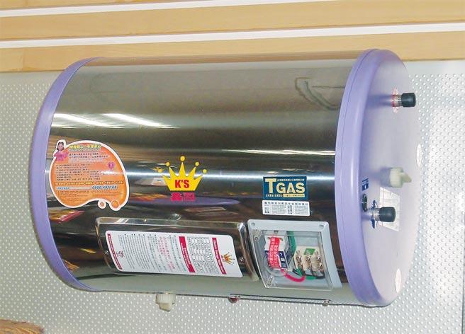 鑫司臥式儲存式電熱水器不占室內使用空間,安全、節能、熱效率高、保溫效果佳。圖/陳仁義