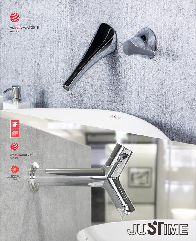 巧時代衛浴的水五金跨界創生美學,呈現水五金精湛工藝,融合時尚美學的創藝內涵。圖/業者提供