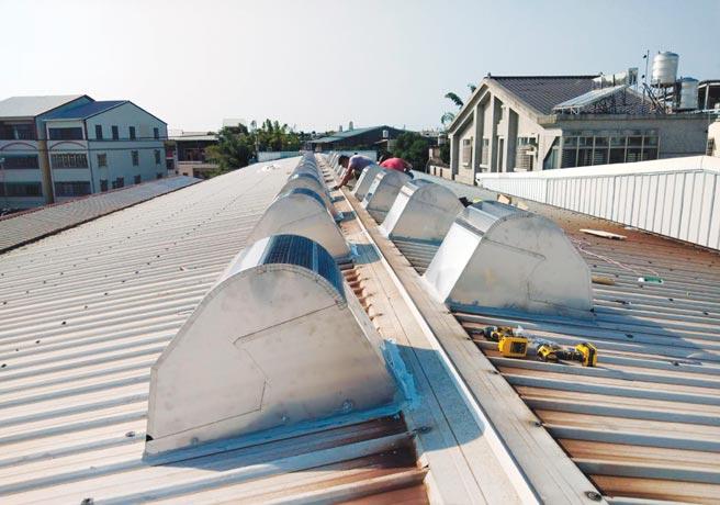 風碩屋頂自然排熱器,可替代傳統通風球。圖╱風碩提供