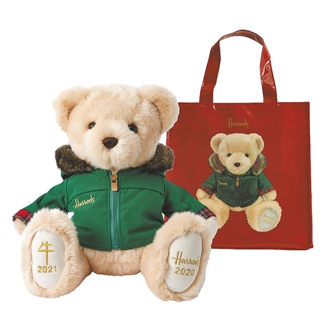 英國百年品牌Harrods今年由年度熊「尼可拉斯」領軍,舉辦「尼可拉斯的禮物秀」耶誕活動,即日起至27日推出與英國同步的尼可拉斯珍藏組。(Harrods提供)