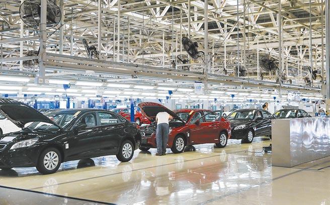 北京一汽車生產廠。(中新社資料照片)