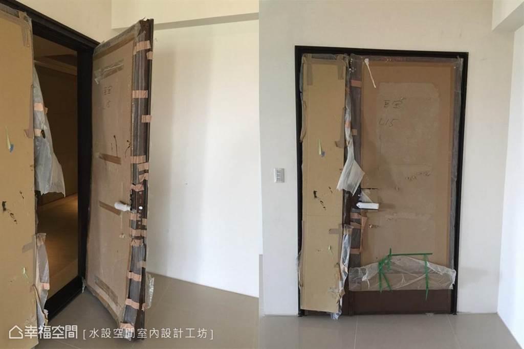 ▲將大門關起,確認密合情況。(圖片來源/水設空間室內設計工坊)