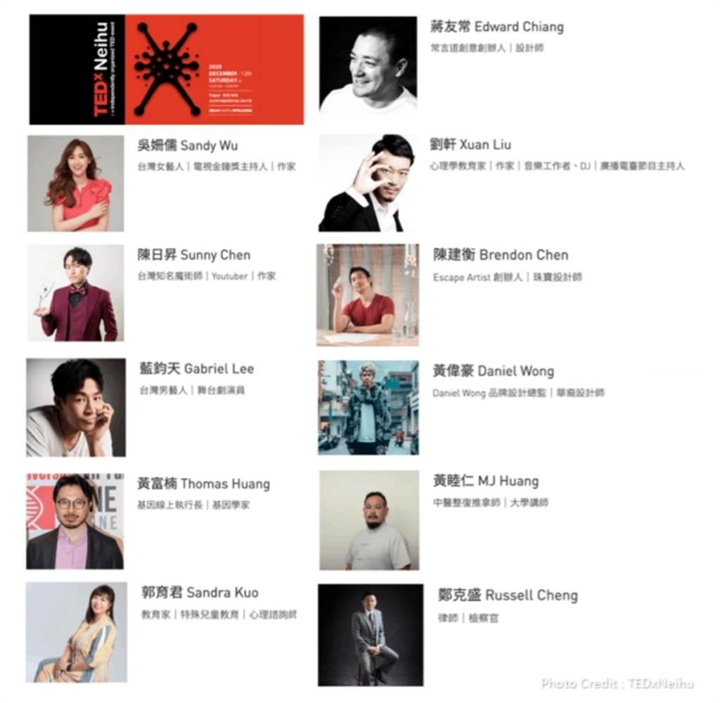 11位超強卡司分享逐夢與實踐。(圖/TEDxNeihu提供)
