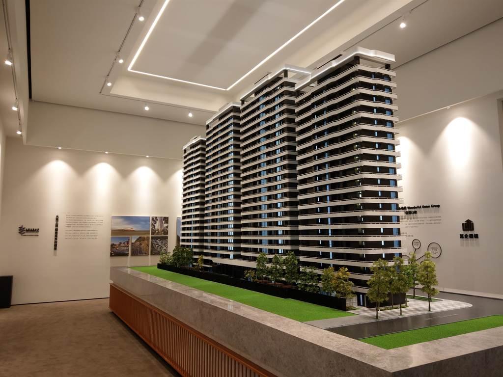 「萬企大業」找來營建工程指標品牌大陸工程合作,並聘請香港P&T和多個大師團隊,企圖打造關渡平原第一排最指標建築。(葉思含攝)
