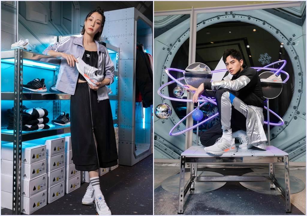 謝欣穎(左)與范少勳(右)想造訪的星球是月球及水星。(圖/品牌提供)
