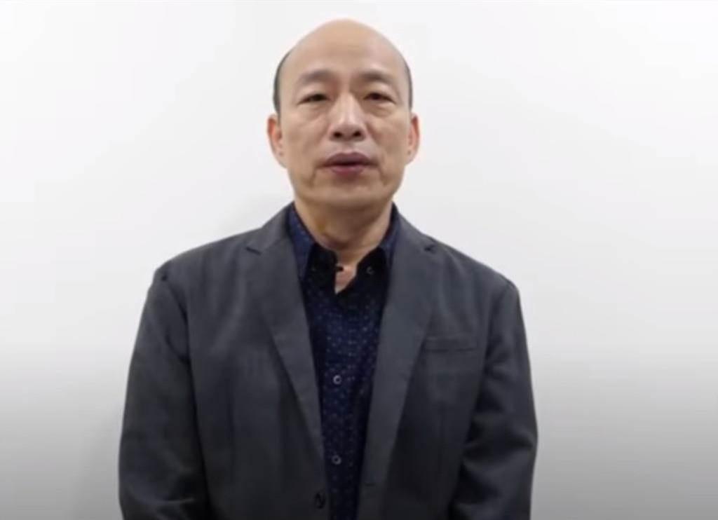 前高雄市長韓國瑜今晚直播發聲挺中天新聞台。(翻攝中天電視YouTube)