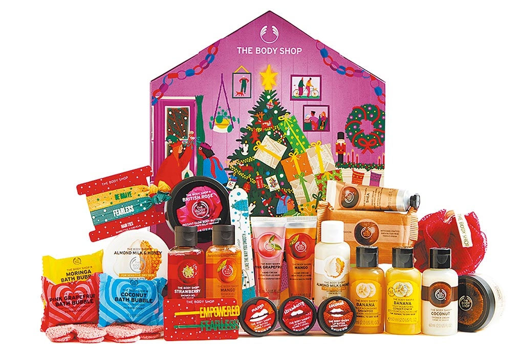 THE BODY SHOP耶誕繽紛小屋倒數月曆,推薦價2880元。(京站提供)