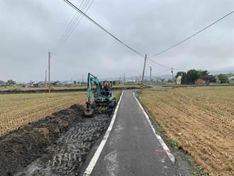 李榮鴻爭取經費 台中大甲農路避車道動工改善