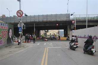 民族路橋拆後 平均2天1車禍
