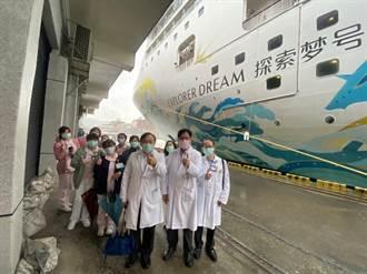 基隆醫院上探索夢號幫船員打針 替跳島旅遊做準備