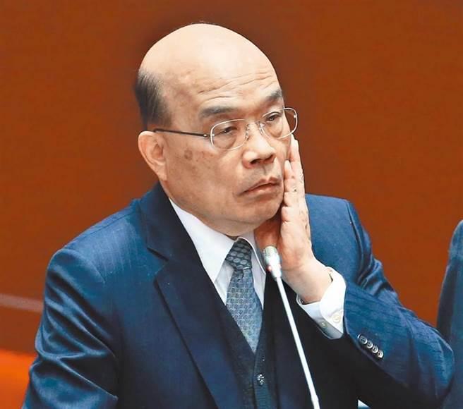 行政院长苏贞昌。(陈信翰摄)