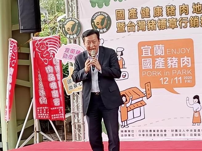 對於政府即將開放萊豬入台,中華民國養豬協會理事長楊杰11日表示,「不管消費者、 產業者都不支持」。(胡健森攝)