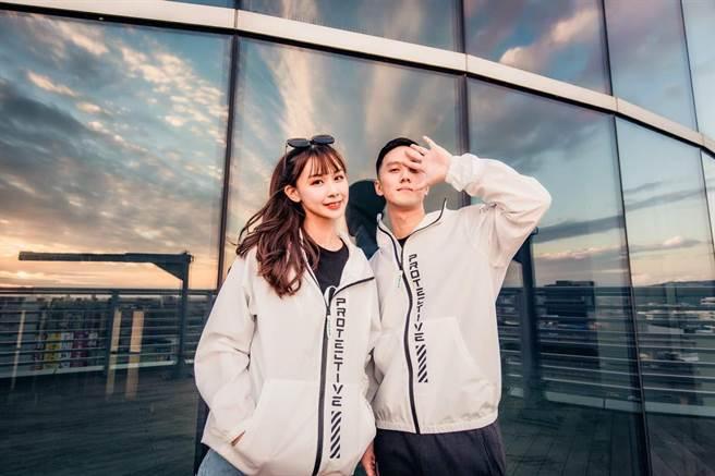 長榮航空推出時尚度爆表的「機能防護夾克」。(長榮航空提供/陳祐誠傳真)