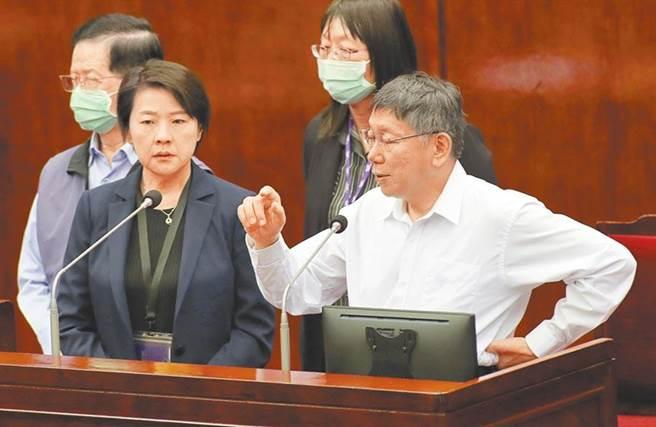 台北市长柯文哲员工满意度年年下降。(本报资料照片)