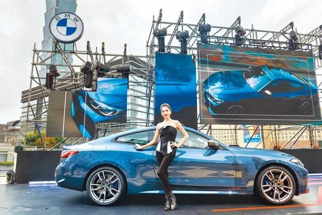 品牌大使許瑋甯與BMW THE 4雙門跑車帥氣同框!圖/業者提供