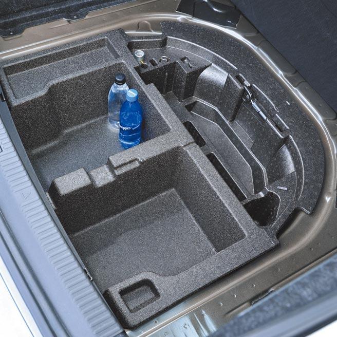 行李廂底板下方還有41L置物空間,並具分類收納功能。(圖/瘋得雄)