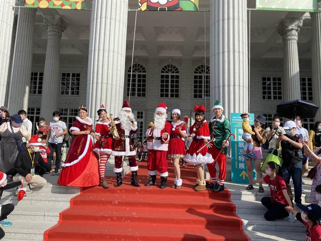 奇美博物館連續3年應景耶誕推出「奇美耶誕周末」,今天起連續2個周末登場。(曹婷婷攝)