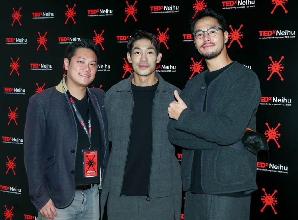 陈绍诚(左起)、蓝钧天、丁春诚昨现身2020 TED x Neihu年会。(粘耿豪摄)
