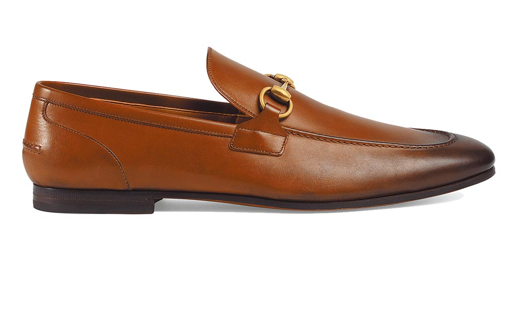 Gucci漸層皮革莫卡辛鞋,2萬7100元。(Gucci提供)