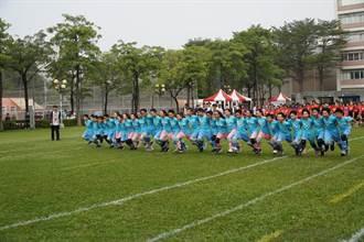 高雄市10人11脚比赛热血奋战  30人31脚挑战团结极限
