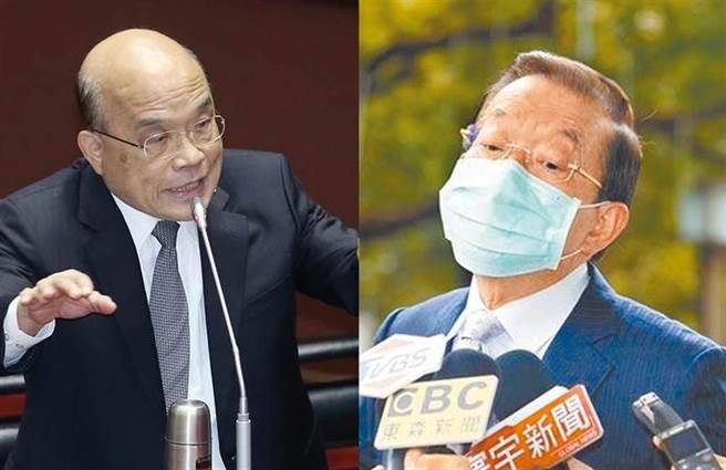 行政院長蘇貞昌(左)、駐日代表謝長廷(右)。(合成圖/資料照)