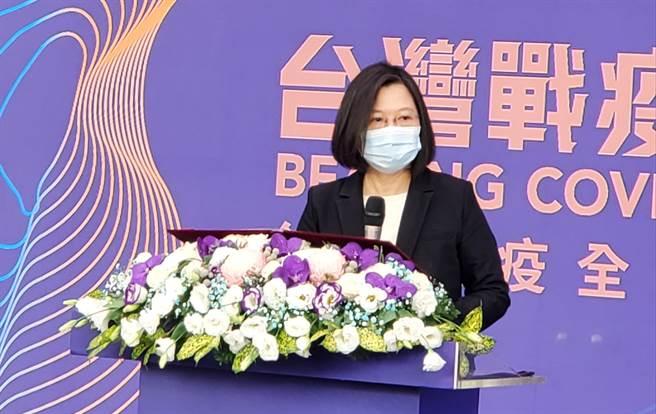 總統:台灣對國際社會和醫療人權的付出和貢獻,一直都是現在進行式。曾薏蘋攝