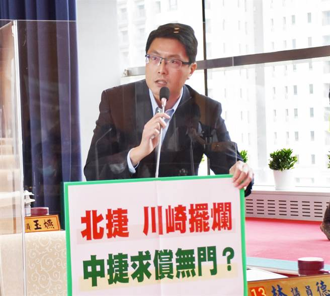 市議員林德宇12日說,台中人的第一條捷運不容有安全疑慮,更不能有黑箱驗收的陰影。(陳世宗攝)