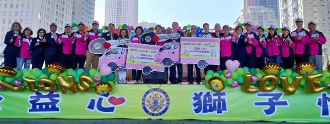 國際獅子會300-C1區12日在市府府前廣場,舉辦「公益心‧獅子情」愛心園遊會,匯聚愛心一起做公益。(陳世宗攝)
