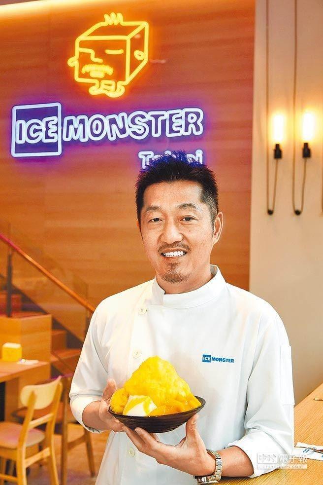 ICE MONSTER創辦人羅駿樺,去年回到發跡地永康商圈開分店,掀起芒果冰大戰。(品牌提供)