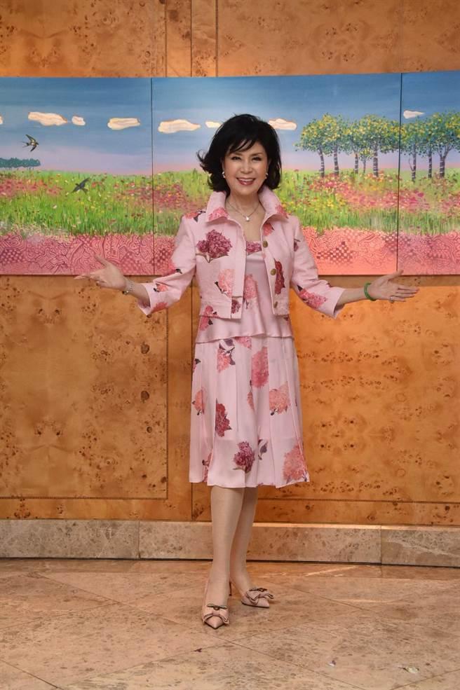 白嘉莉畫展《另一個春天》近期在台北君悅酒店展出。(白嘉莉提供)