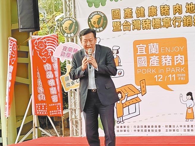 對於政府即將開放萊豬入台,中華民國養豬協會理事長楊杰11日表示,「不管消費者、產業界都不支持」。(胡健森攝)