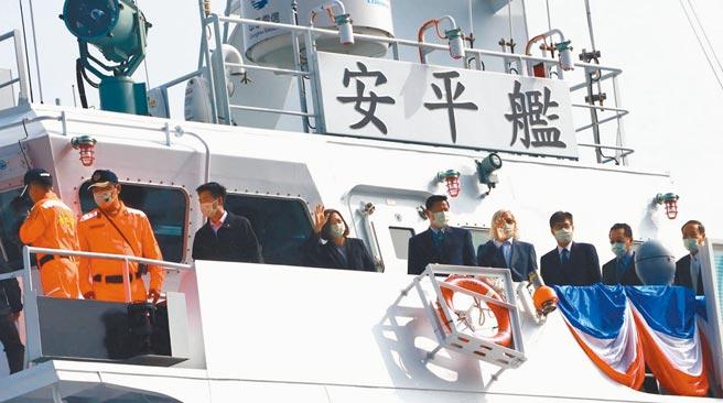 蔡英文總統表示,為期10年的「籌建海巡艦艇發展計畫」,預計打造約100艘艦艇。(劉宥廷攝)